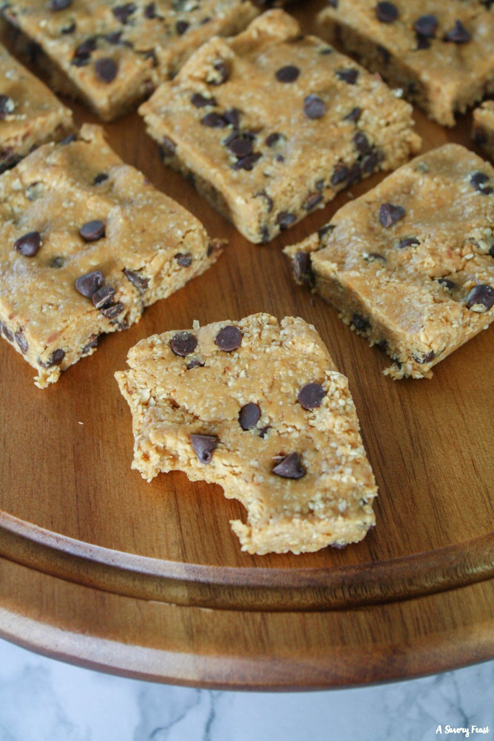 Mix up some Healthier Chocolate Chip Cookie Bars in minutes!