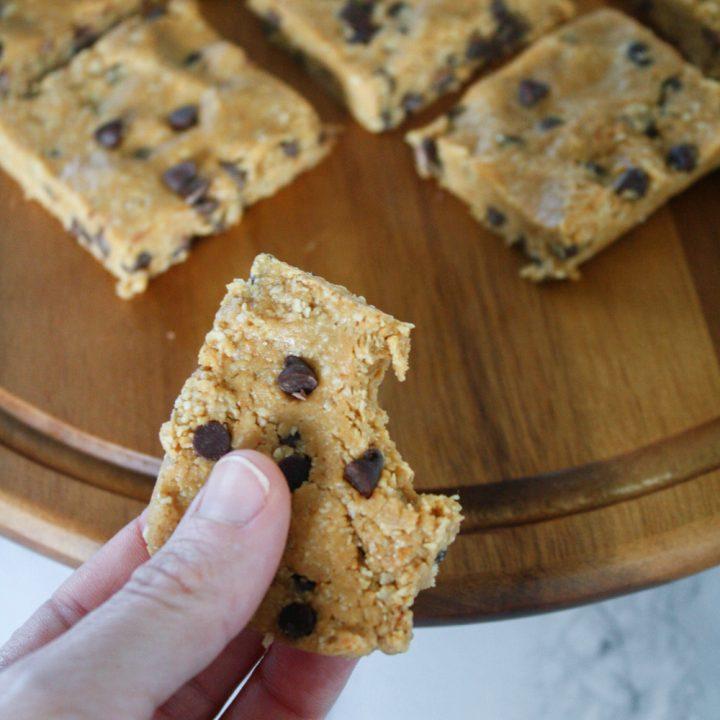 Healthier Cookie Dough Bars