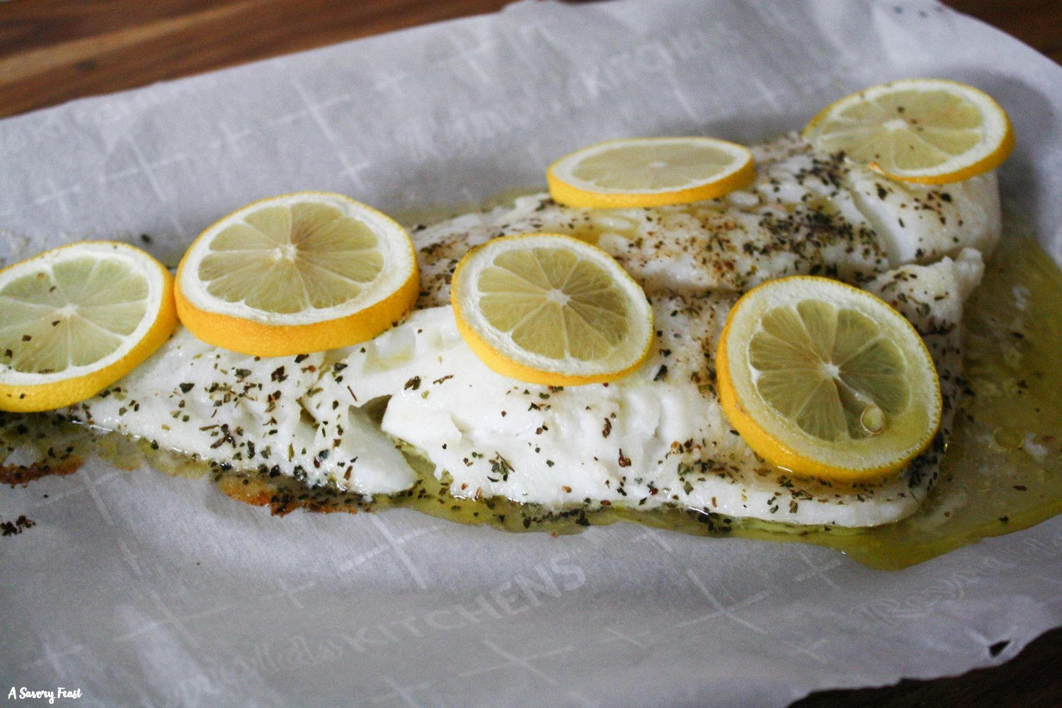 Easy Lemon Herb Baked Cod recipe