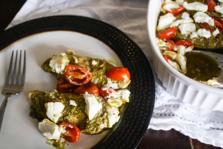 Goat Cheese and Tomato Pesto Chicken