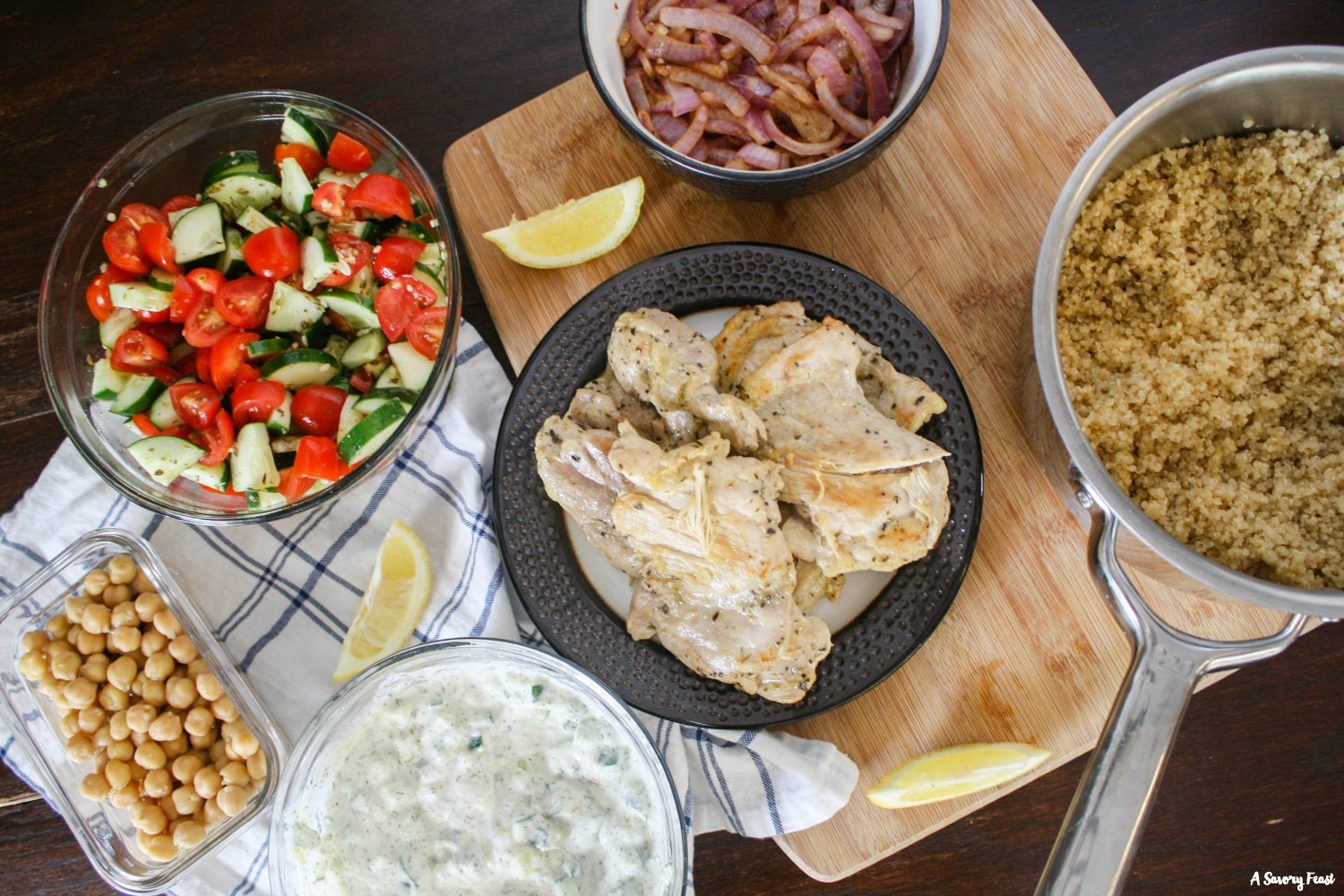 How to make Greek Chicken Bowls