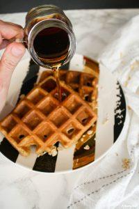 Apple Oat Blender Waffles
