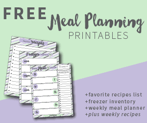 Free Meal Planning Printables!