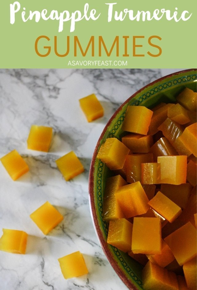 Making homemade fruit gummies is easier than you think! These Pineapple Turmeric Gummies have lots of health benefits and are sweetened with honey, no refined sugar like store-bought gummies are packed with. Kids and adults alike will love these homemade gummies!