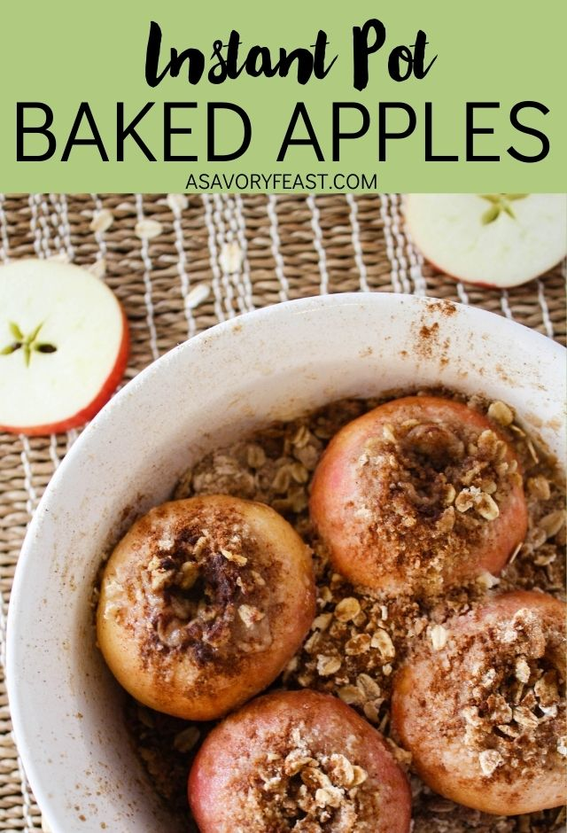 Instant Pot Baked Apples are a modern twist on a classic dessert. Just a few minutes of prep and you can let your instant pot do the work to make this delicious dessert. It's wonderful served warm and topped with vanilla ice cream!