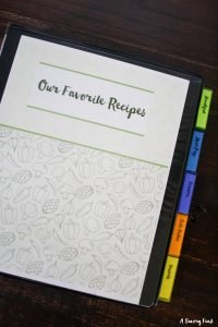 How to Create Your Own Meal Planning Recipe Binder