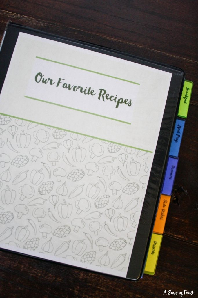 How to create your own recipe binder of favorite meals.