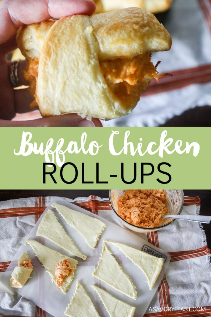 Buffalo chicken appetizers are always a hit for game day! These Buffalo Chicken Roll-ups are made in under 30 minutes with just a few ingredients. If you love buffalo chicken dip, this will be your new favorite appetizer.