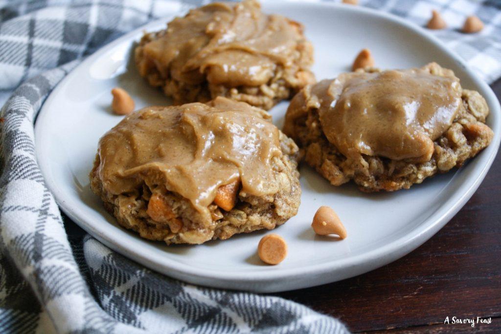 Homemade butterscotch oatmeal cookies