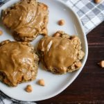 Oatmeal Butterscotch Cookies with Brown Sugar Glaze