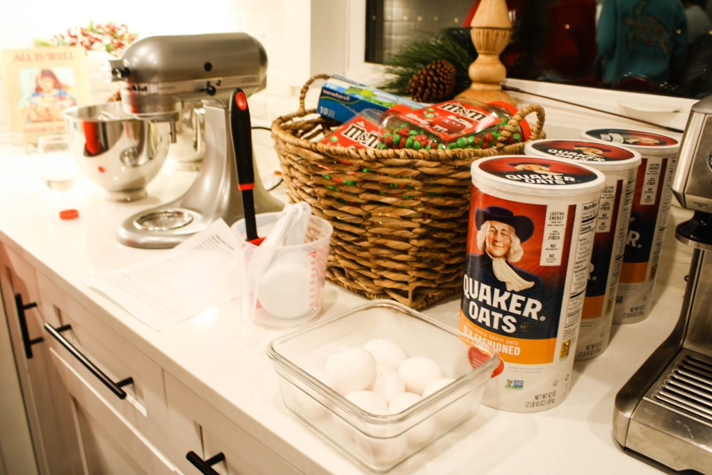 Setting up a Christmas Cookie Freezer Prep Party