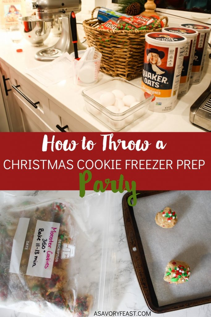 Get together with friends to prep Christmas cookie dough to freeze! Each person goes home with a batch of each type of cookie dough that they can bake when needed for holiday parties or gatherings.