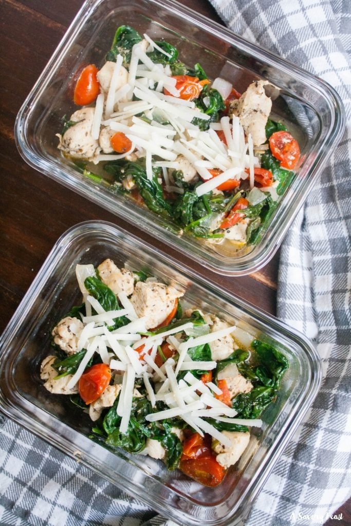 How to make Italian Chicken Meal Prep Bowls
