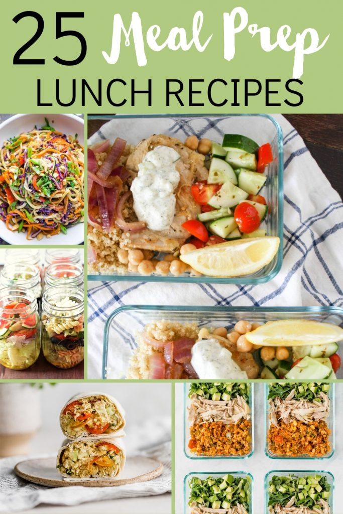 Making meal prep lunches is a great way to save time and money. But staying inspired with new recipes can be tough! Here are 25 delicious meal prep lunch recipes for you to try! Great ideas for bowls, soups, salads and more.