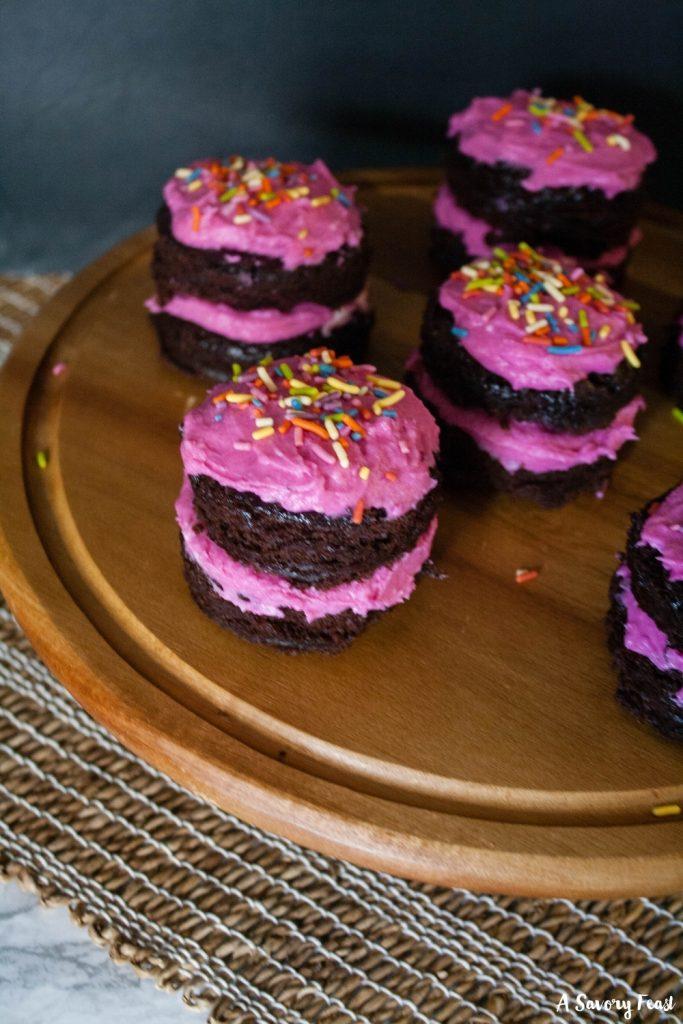 Valentine's Day Mini Chocolate Cakes