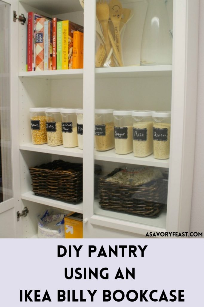 Need to add a pantry to your home or apartment? An IKEA Billy Bookcase can be converted into an organized pantry with this easy hack.