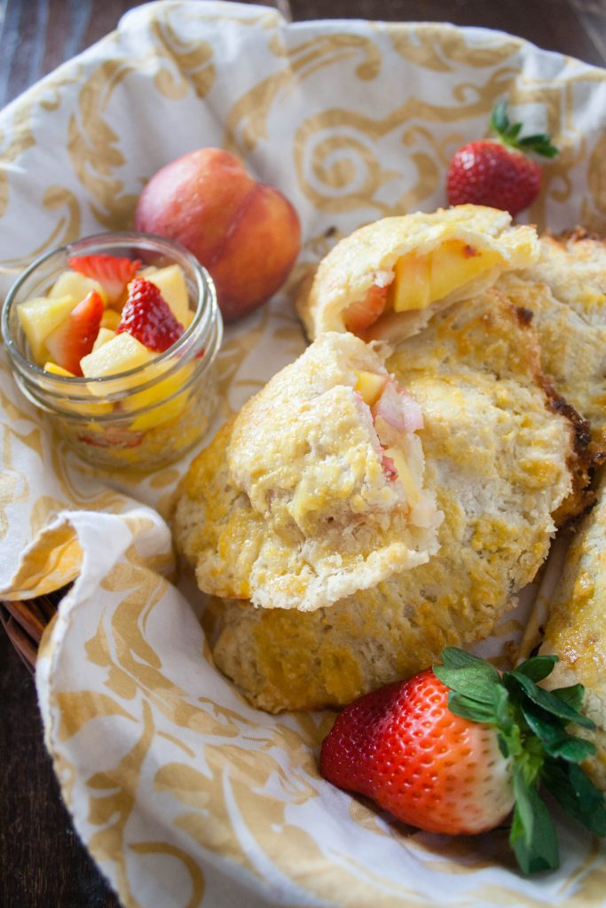Easy Strawberry Peach Hand Pies recipe